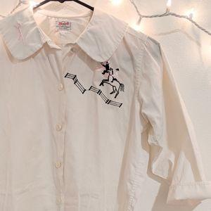 Authentic vintage Western cotton top